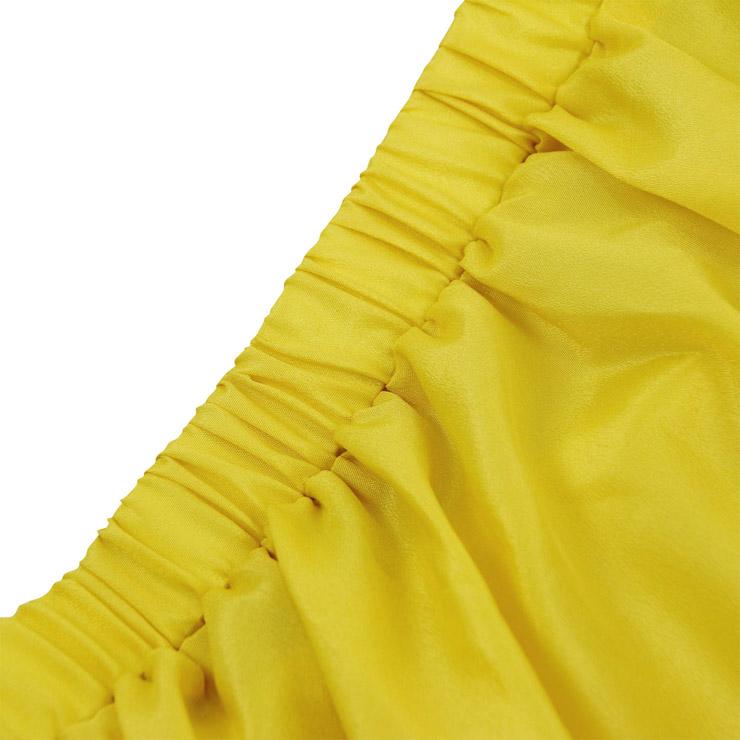 Steampunk Skirt, Gothic Cosplay Skirt, Halloween Costume Skirt, Pirate Costume, Elastic Skirt, Short Front Ruffle Skirt, #N15062