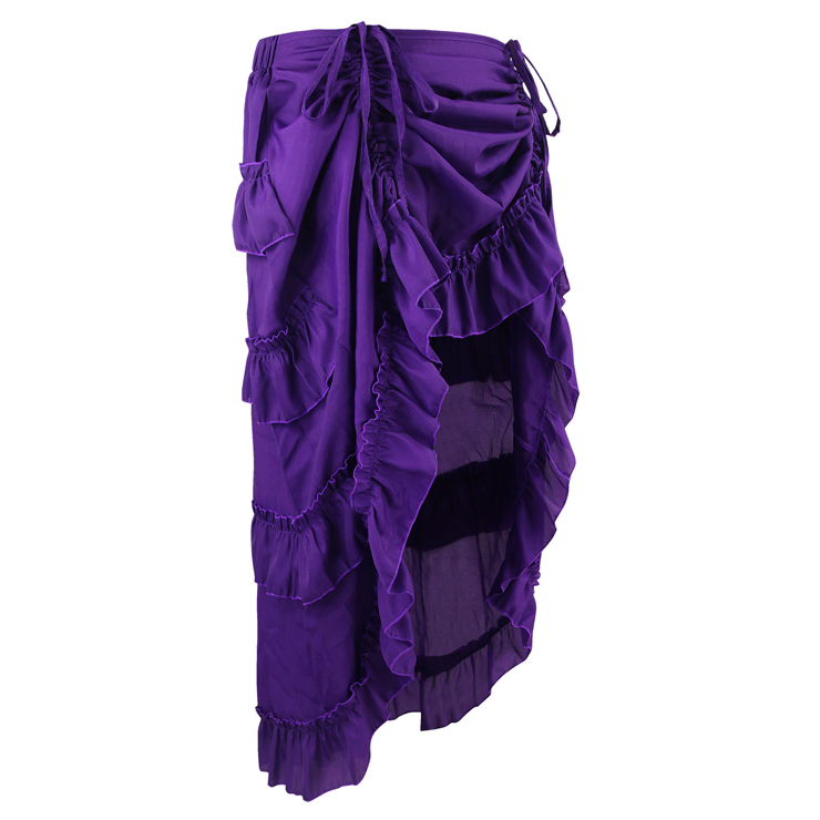 how to make a victorian ruffle skirt
