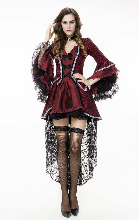 Victorian Vamp Sexy Halloween Costume N10609