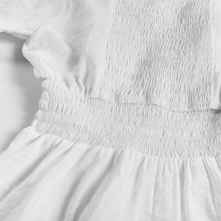 Cotton Dress, Baby Doll Dress, Lace Blouse, Crop Top, Victorian Dress, Sexy Tonic, #N11851