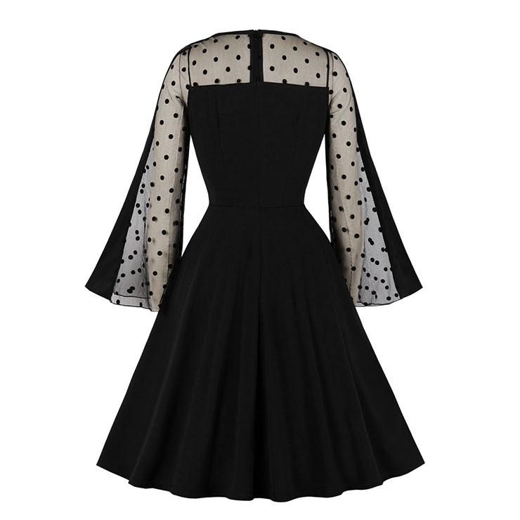 Sexy See-through Mesh Clubwear Dress, Fashion Casual Office Lady Dress, Sexy See-through Party Dress, Retro Party Dresses for Women 1960, Vintage Dresses 1950