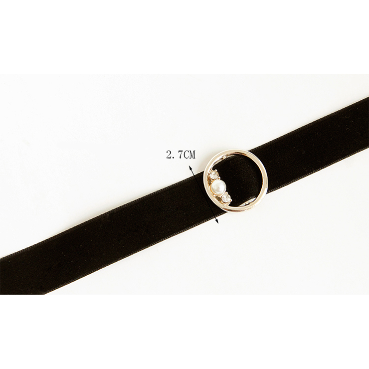 Vintage Style Necklace, Velvet Necklace, Beaded Necklace, Black Necklace, Black Pearl Chocker, Victorian Necklace, #J18397