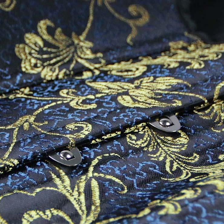 Brocade Underbust corset, Vintage Pattern Underbust Corset, Brocade Waistcoat Corset, #N8274