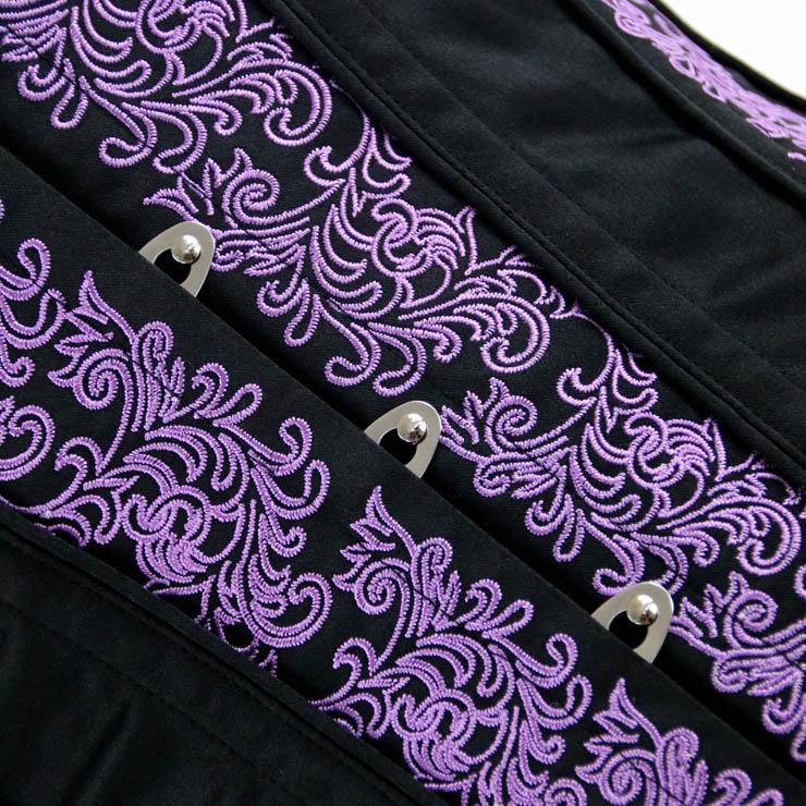 Brocade Embroidery Underbust Corset, Steel Bone Waist Training Corset, Steel Boned Brocade Corset, Steampunk Underbust Corset, #N14105