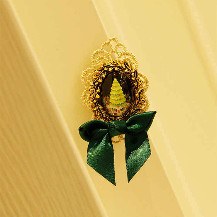 Fashion Christmas Brooch, Fashion Bowknot Brooch, Casual Brooch for Women, Girl