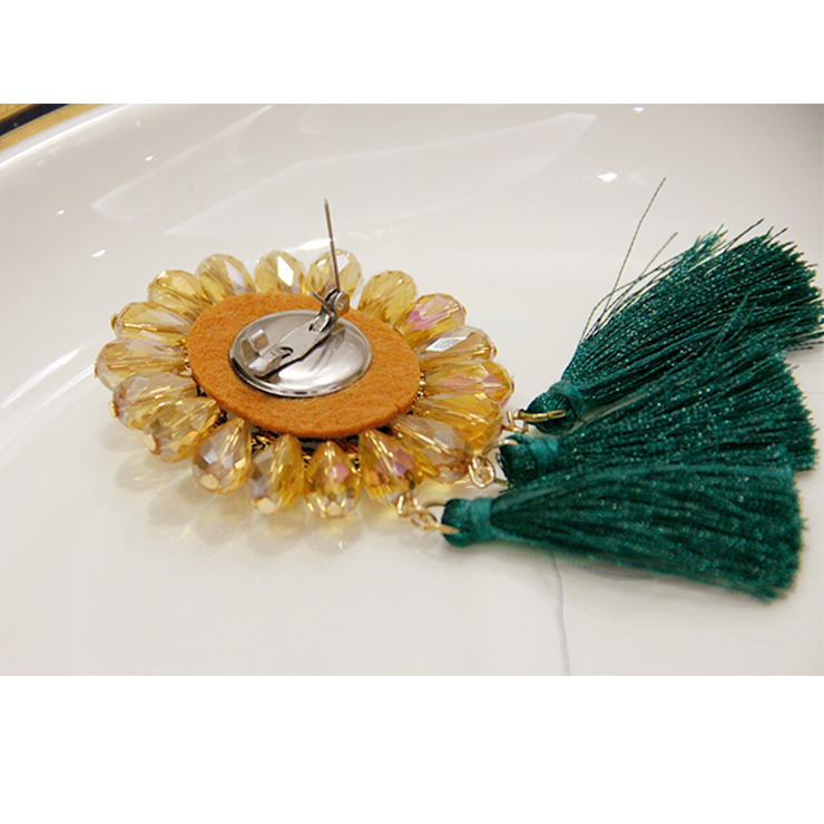 Fashion Christmas Brooch, Fashion Tassel Brooch, Casual Brooch for Women, Girl
