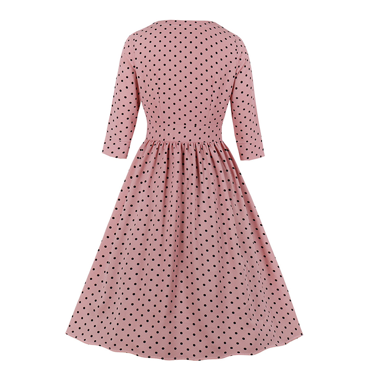 Cute Polka Dots Swing Dress, Retro Polka Dots Dresses for Women 1960, Vintage Dresses 1950