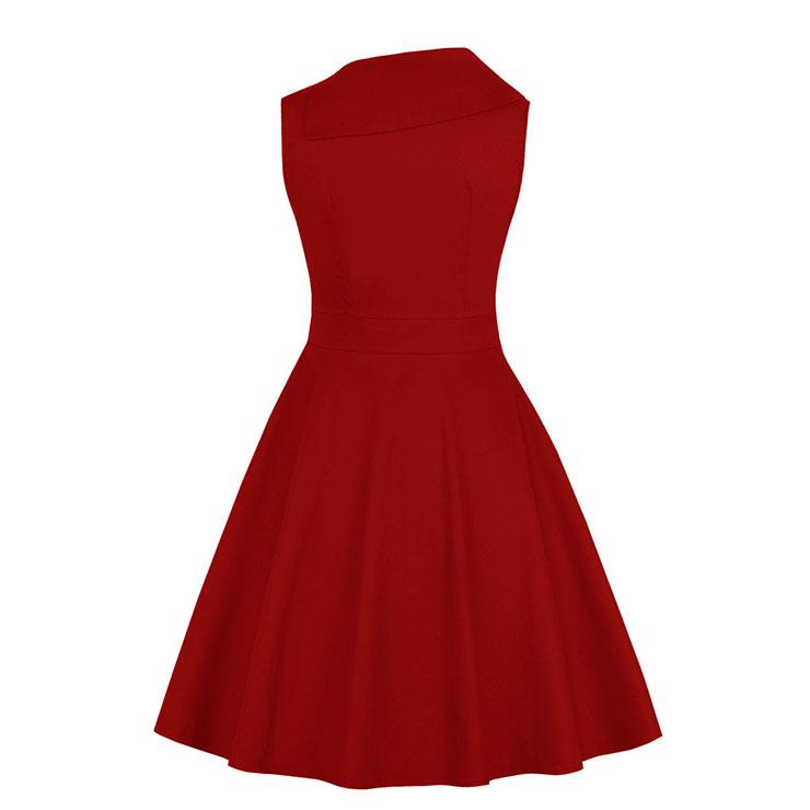 Cute Summertime Printed A-line Swing Dress, Retro Dresses for Women 1960, Vintage Dresses 1950