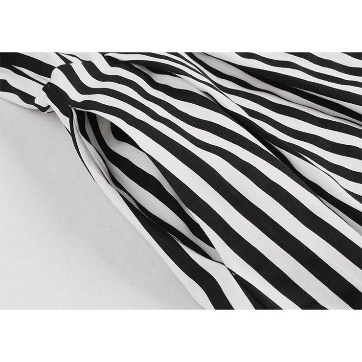 Vintage Vertical Stripes Dress, Fashion Vertical Stripes High Waist A-line Swing Dress, Retro Vertical Stripes Dresses for Women 1960, Vintage Dresses 1950