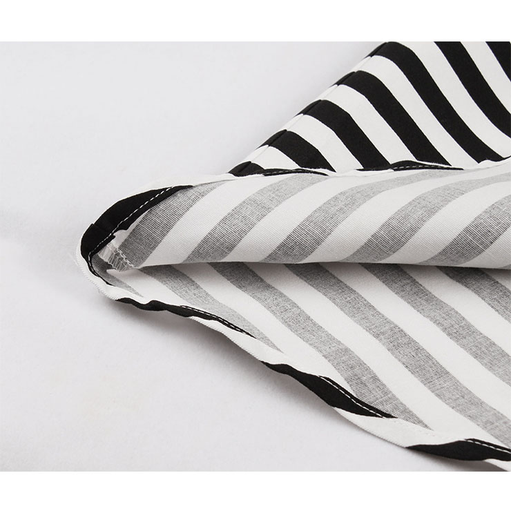 Vintage Lapel Stripes Dress, Fashion Stripes High Waist A-line Swing Dress, Retro Stripes Dresses for Women 1960, Vintage Dresses 1950