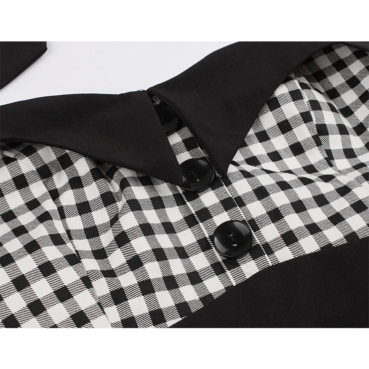 Vintage Polka Dots Dress, Fashion Polka Dots High Waist A-line Swing Dress, Retro Dresses for Women 1960, Vintage Dresses 1950