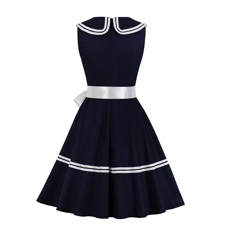 Fashion Casual OL Dress, Cute Summer Swing Dress, Retro Dresses for Women 1960, Vintage Dresses 1950