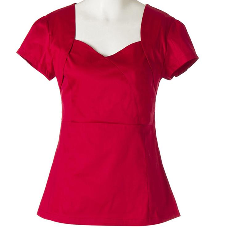 Vintage 1950's Pinup Red Short Sleeve T-shirt N11856