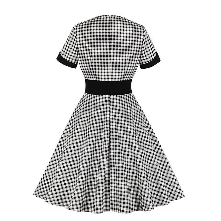 Cute Summer Swing Dress, Retro Party Dresses for Women 1960, Vintage Party Dresses 1950