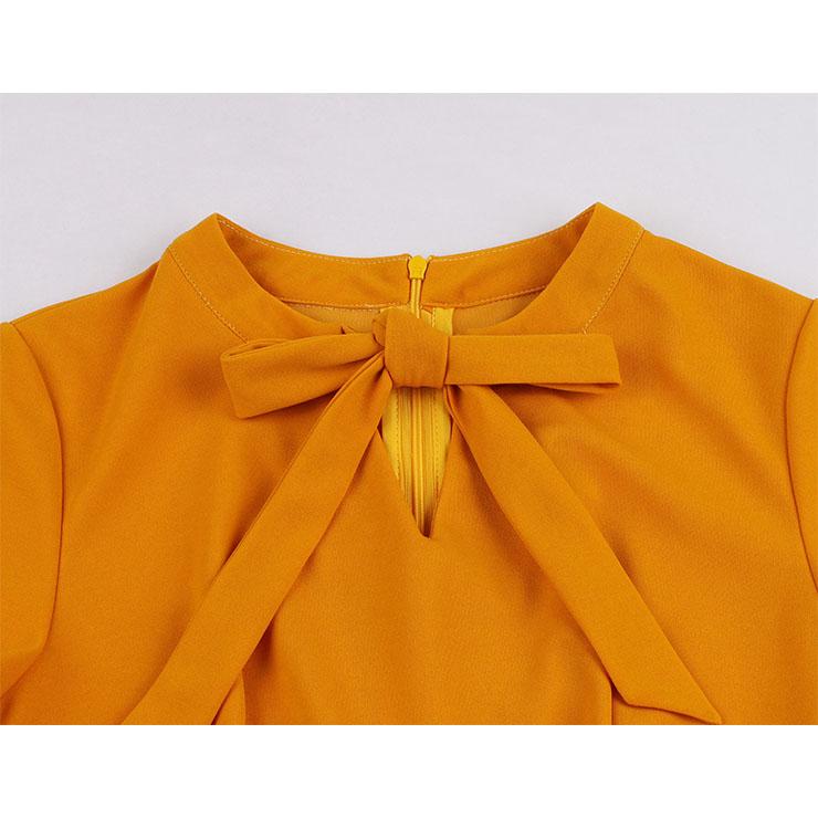 Floral Print Dresses, Cute Autumn Swing Dress, Retro Dresses for Women 1960, Vintage Dresses 1950