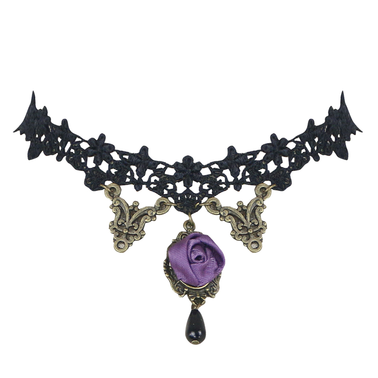 Vintage Style Necklace, New Gothic Necklace, Beaded Necklace, Lace Necklace, Cheap Punk Chocker, Victorian Necklace, #J12012