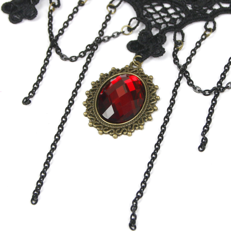 Vintage Style Necklace, New Gothic Necklace, Beaded Necklace, Lace Necklace, Cheap Punk Chocker, Victorian Necklace, #J12028