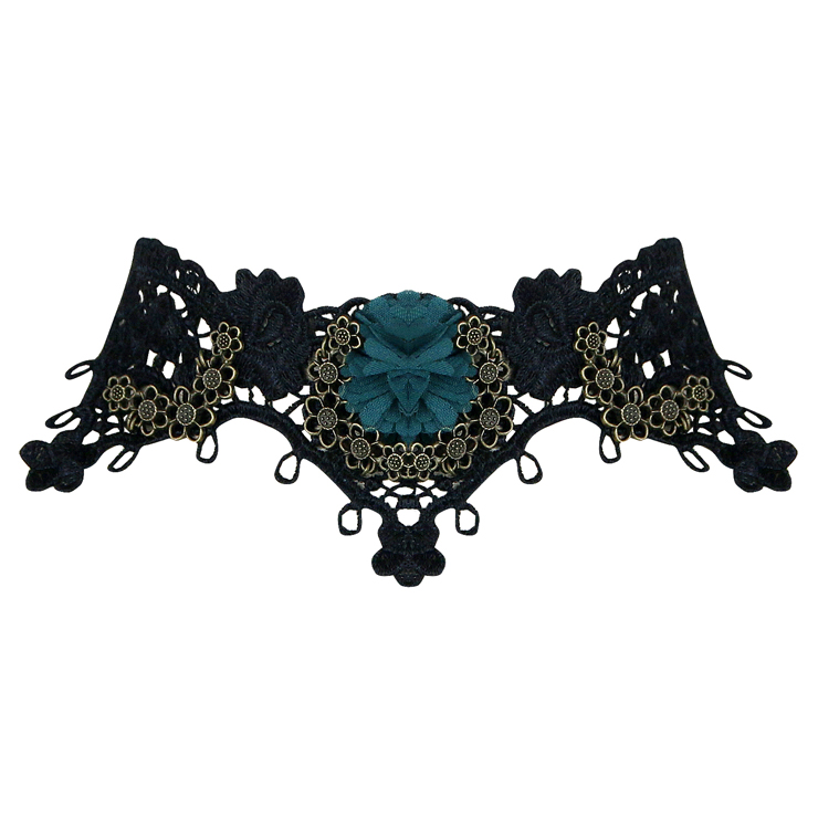 Vintage Style Necklace, New Gothic Necklace, Beaded Necklace, Lace Necklace, Cheap Punk Chocker, Victorian Necklace, Vampire Costume, #J12029