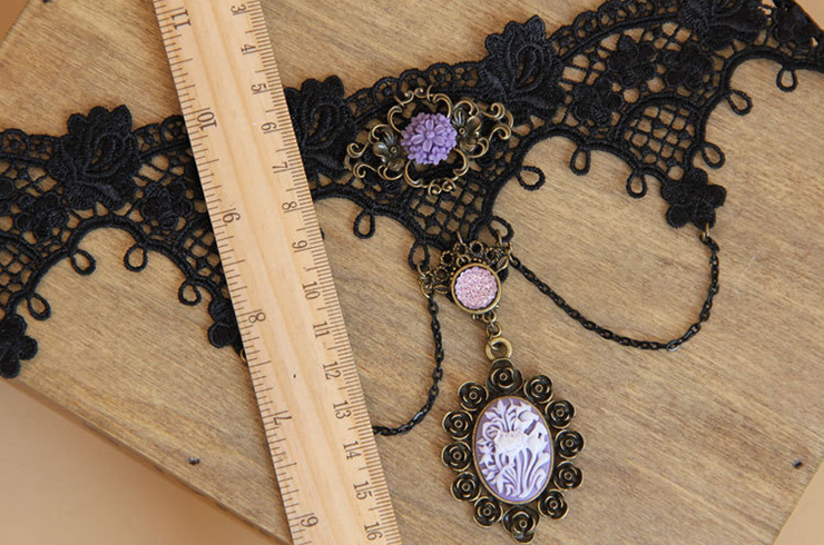Vintage Style Necklace, New Gothic Necklace, Beaded Necklace, Lace Necklace, Cheap Punk Chocker, Victorian Necklace, #J12032