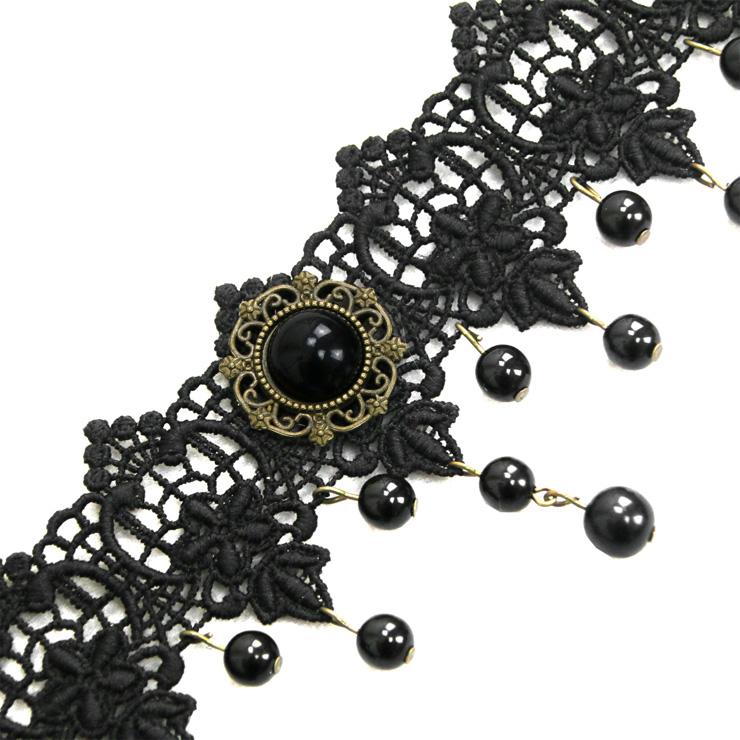 Vintage Style Necklace, New Gothic Necklace, Gem Necklace, Lace Necklace, Cheap Punk Chocker, Victorian Necklace, #J12065