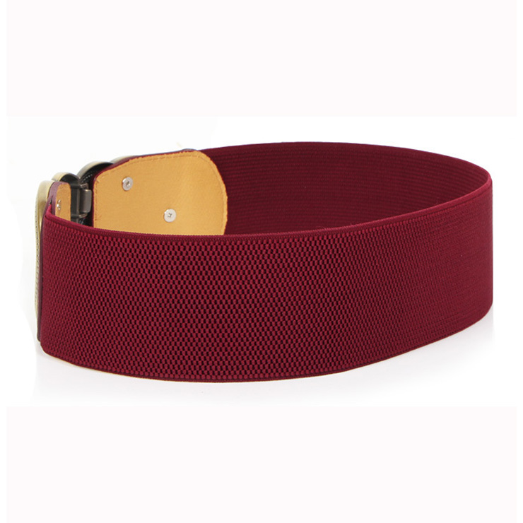 Leather Corset Belt, Buckle Fastening Waist Belt, Elastic Waist Belt, High Waist Corset Belt, Fashion Waist Belt, #N15359