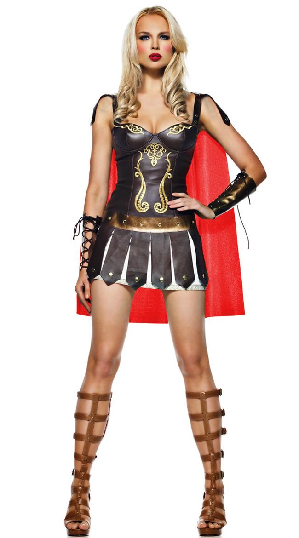 Warrior Princess Costume, Sexy Roman Soldier Costume, Sexy Roman Gladiator Costume, #N1505