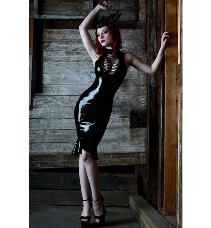 Wet Look Mermaid Dress N8515
