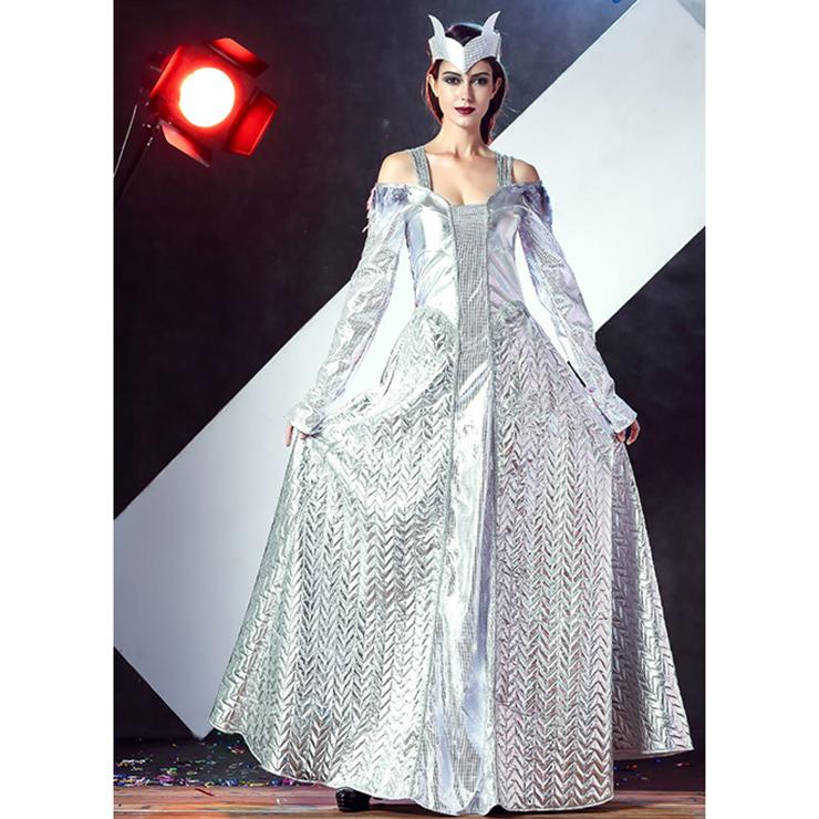 Deluxe Winter's War Ice Queen Silver Adult Halloween Costume N11685