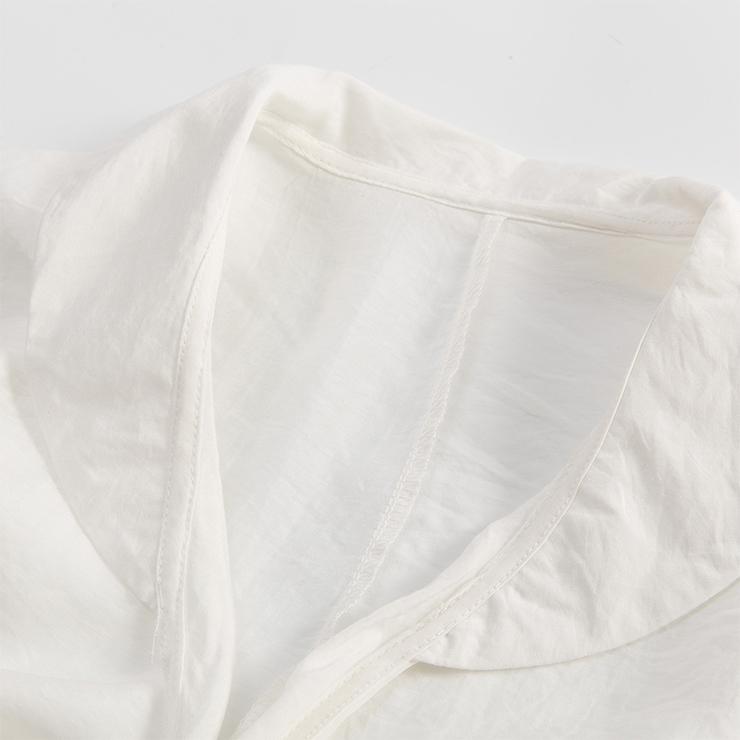 Fashion  Top for Women, Half Sleeve Round Neck Top, White Cotton Blouse, Women