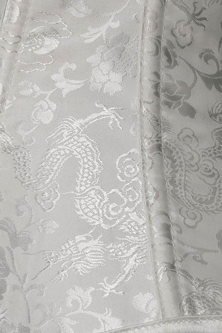 Noble Elegant White Corset, Cheap Busk Closure Corset, Jacquard Weave Overbust Corset, Women