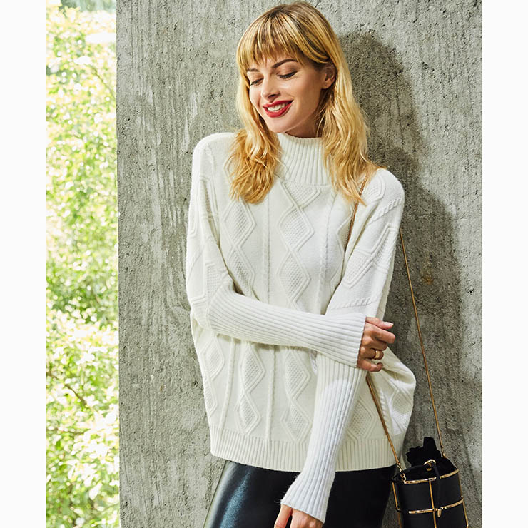 White Long Sleeve Sweater, Women