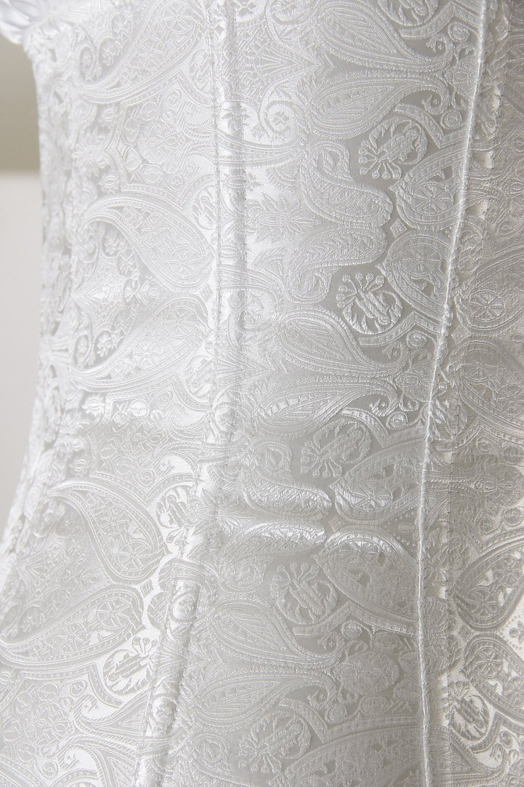9580a629d9b White Paisley Design Corset N6526