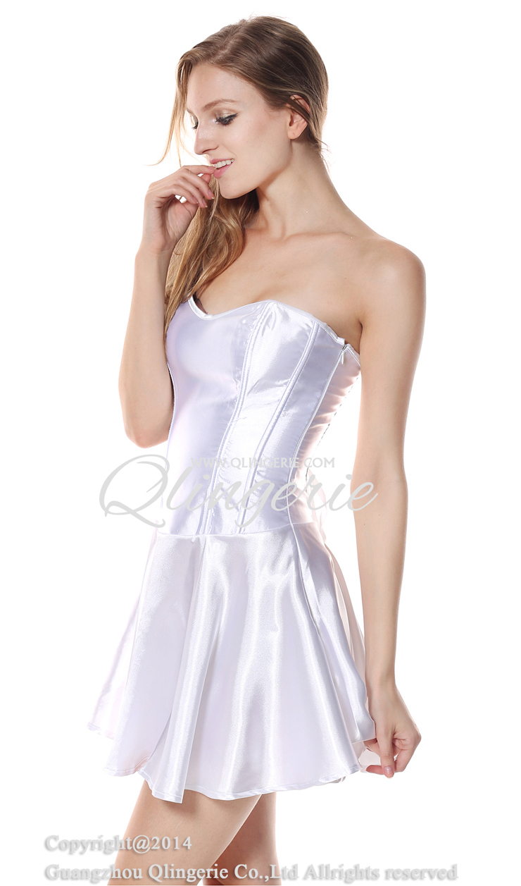 White wedding fit and flare corset dress n9172 for White corset wedding dress