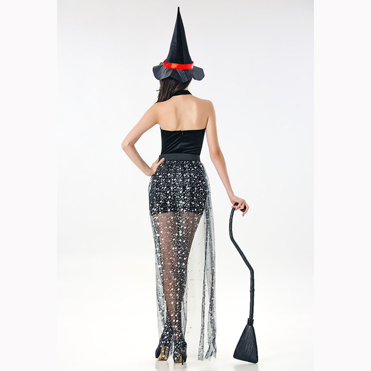 Halloween Costume 398.Sexy Adult Witch Dress Halloween Party Role Play Costume With Hat N17107