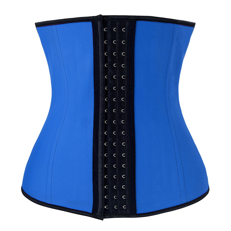 Women's Unique Blue Latex Steel Bone Underbust Corset N10242