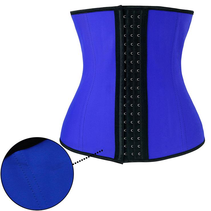 Women's Unique Blue Latex Steel Bone Underbust Corset with Little Defect N18660