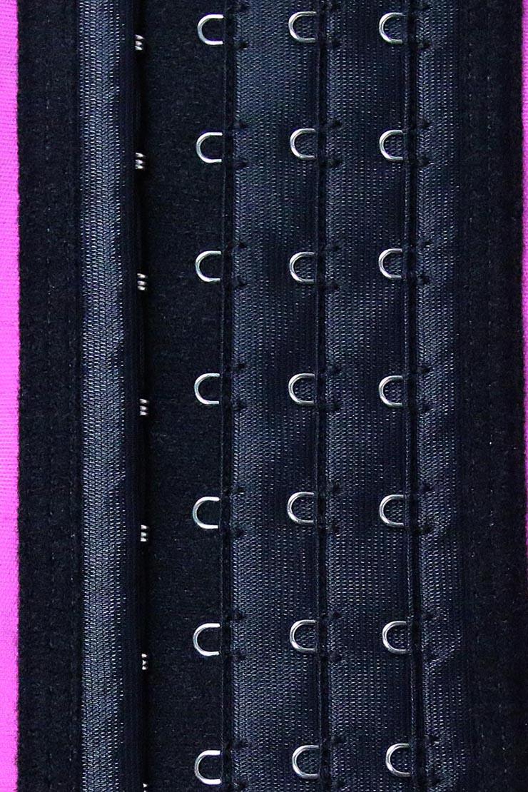Latex Underbust Corset, Elastic Body Shaper Bustier, High Quality Hot-Pink Steel Bone Underbust Corset, Plus Size Corset, #N10241