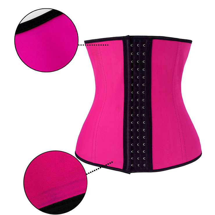 Women's Unique Pink Latex Steel Bone Underbust Corset with Little Defect N18661