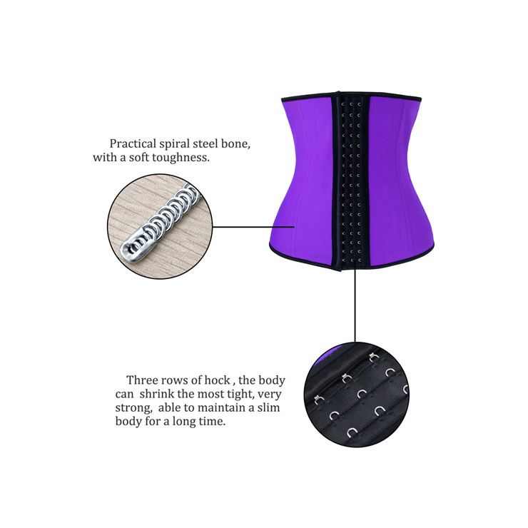 Latex Underbust Corset, Elastic Body Shaper Bustier, High Quality Purple Steel Bone Underbust Corset, Plus Size Corset, #N10240