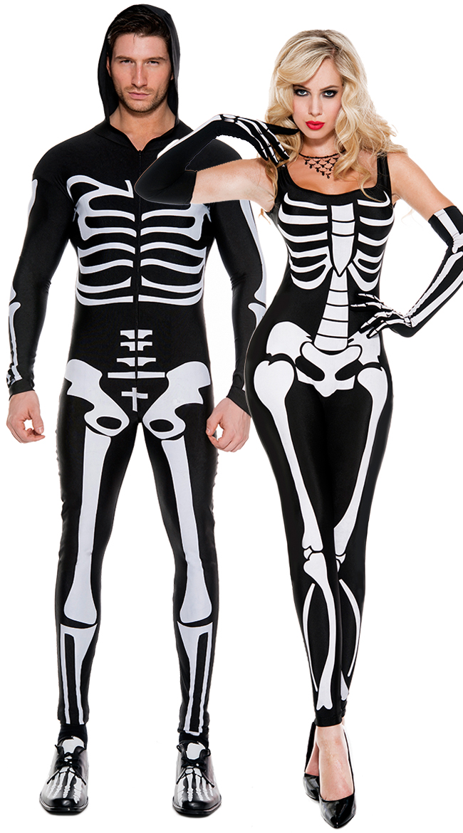d7410a881fbe Women s Sexy Skeleton Jumpsuit Costume N11077