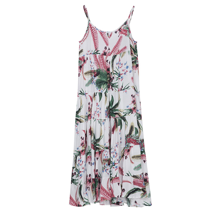 Sexy Dress for Women, Maxi Dresses, Sleeveless Dress for Women, Spaghetti Strap Dress, Floral Print Party Dress , Women Daily Dress, #N14403
