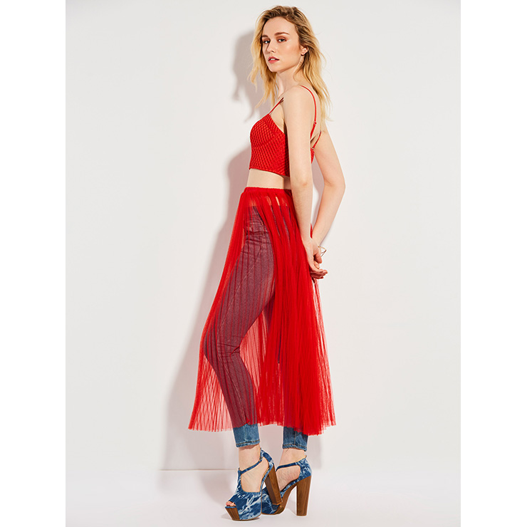 Sleeveless Top and Skirt Set, Crop Top Skirt Suit, 2 Piece Set Dress, Sleeveless Skirt Suit, Two-piece Set for Women, Tank Top and Skirt Outfit, #N14366