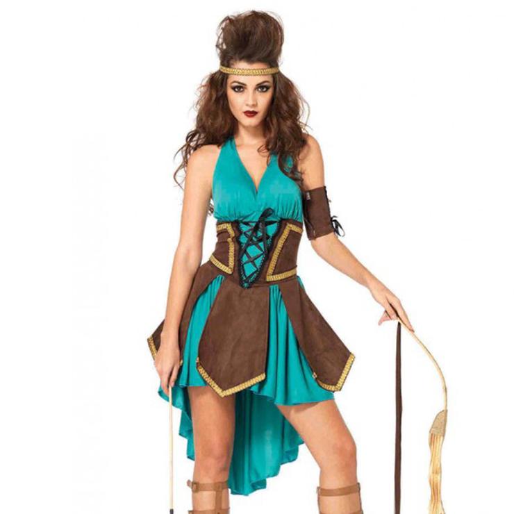 Women's Celtic Warrior Green Dress Costume N12601
