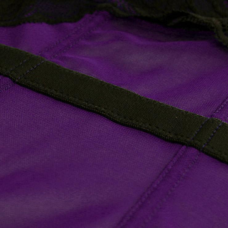 Sexy Purple Bustier Corset, Fashion Body Shaper, Cheap Shapewear Corset, Womens Bustier Top, #N11282