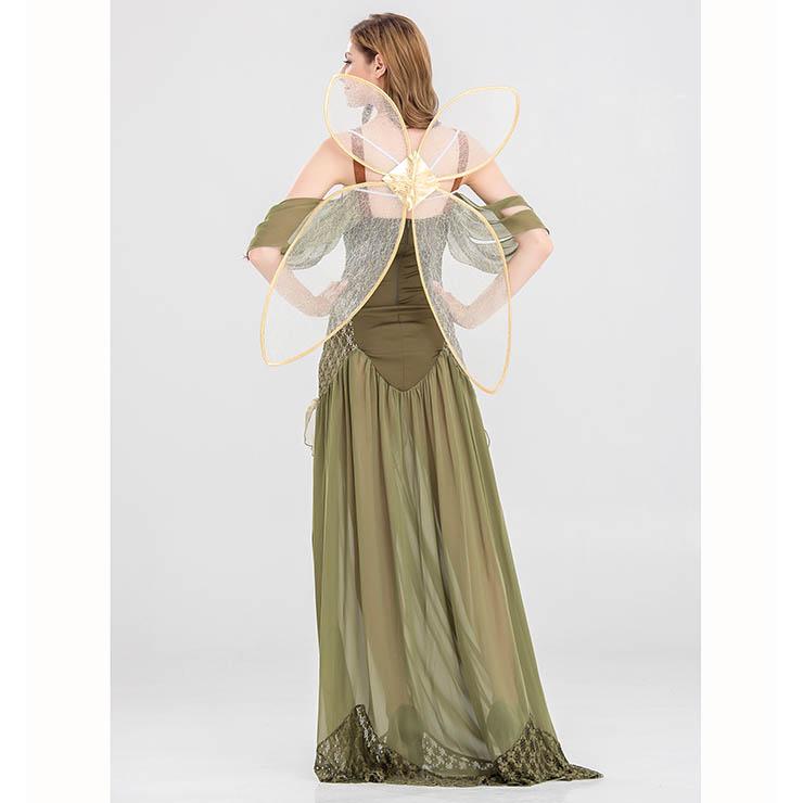 Woodland Fairy Costume, Green Fairy Costume, Adult Fairy Costume, Cosplay Costume, Butterfly Costume, #N14698