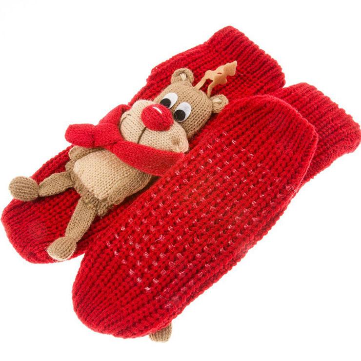 3D Cartoon Animal Woolen Knitted Socks, Household Socks, Comfortable Socks, Christmas Socks, #HG12113