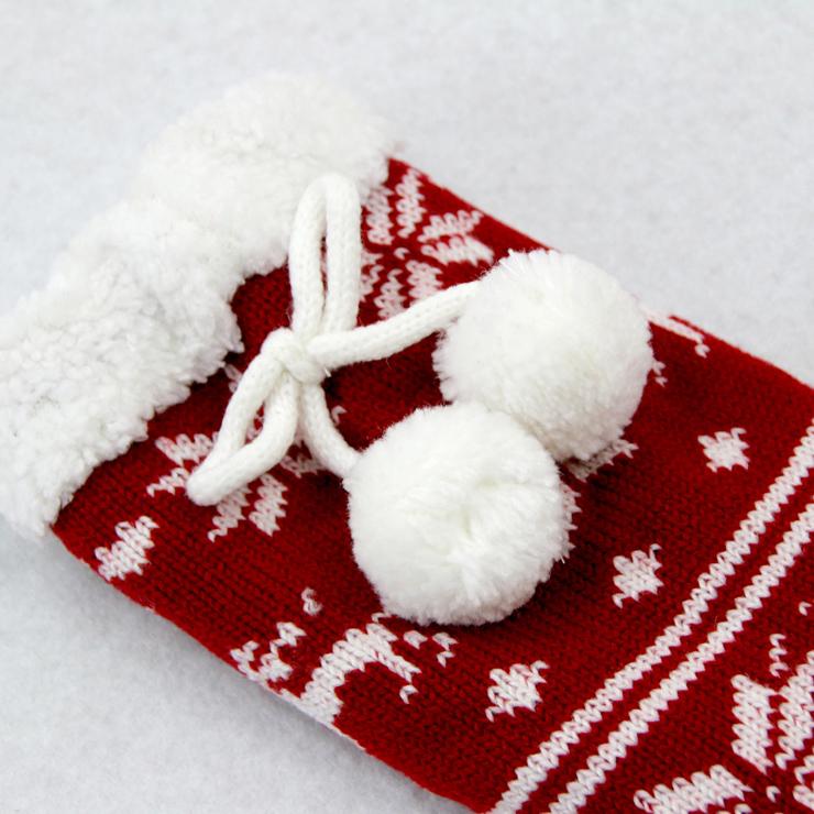 Christmas Woolen Knitted Socks, Household Socks, Comfortable Socks, Thick Stockings, Winter Socks, Slipper Socks, #HG12120