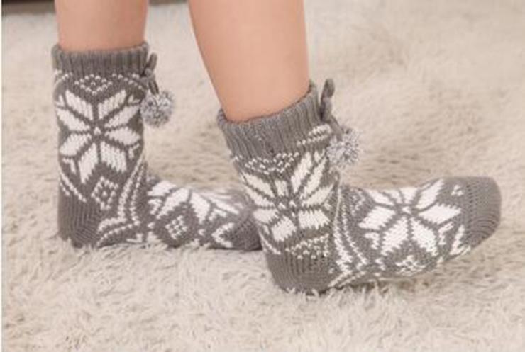 Woolen Knitted Socks, Household Socks, Comfortable Socks, Thick Stockings, Winter Socks, Slipper Socks, Christmas Stocking, #HG12122