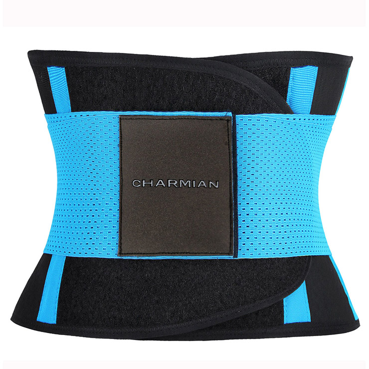Workout Blue Neoprene Waist Trainer Belt for Hourglass Figure N11051