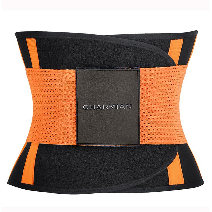 Workout Orange Neoprene Waist Trainer Belt for Hourglass Figure N11054